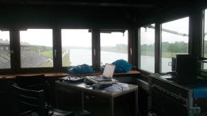 die Kommandozentrale auf dem Tower