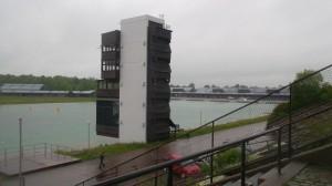 Medienturm an der Ruderregattastrecke München