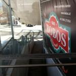 """Werbung Bobo's an der """"Galzig"""""""