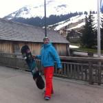 Fritz mit Snowboard